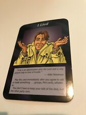 I LIED : Illuminati INWO CCG Plot card,1995 UNLIMITED TCG, Conspiracies Trick