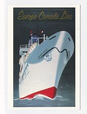 ad1300 - advert for Europe & Canada Line  - art postcard
