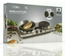 DAEWOO STAINLESS STEEL DOUBLE/TWIN DUAL HOT PLATE COOKER .....ORIGINAL BOX