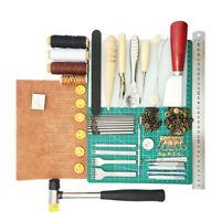 1 set pratico set di strumenti per la lavorazione del cuoio kit cucitura di