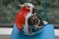 """Royal Crown Derby Paperweights """"MIDNIGHT ROBIN"""" New 1st Quality & Original Box"""