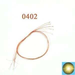 Lotto di 5 micro LED SMD 0402 3V bianco caldo