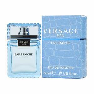 Versace Man Eau Fraiche by Gianni Versace MINI Perfume for Men 0.17oz/5 ml NEW