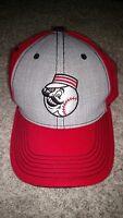 Cincinnati Reds Strapback Hat/Cap MelonWear. Baseball Logo. MLB Red/Gray.
