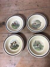 "4 Royal Worcester Palissy 'The Famous Herring Hunting Scenes' tableware 7 5/8"""