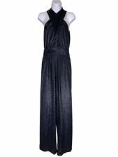 Rachel Zoe Blue Sparkle Glitter Sleeveless Jumpsuit Women's Size Medium*