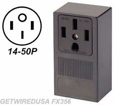 RV 4-PRONG 14-50R RECEPTACLE 4-PIN PLUG IN POWER BOX 50-AMP CAMPER WALL OUTLET