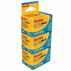 Kodak Ultra Max 400 35mm 36exp Colour Print Film - 135-36 - 3 Pack dated 03/2023