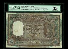 India | 1000 Rs (1962-67) | D Bhattacharya | Correct Hindi | Pmg-35 | P47f