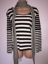 NEXT Black White Striped Sweatshirt Jersey Top– Size 12 Soft Touch