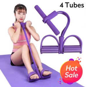 Elastic Pull Ropes Abdominal Exerciser Rower Belly Resistance Band Home Gym Spor