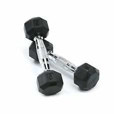 SPRI Deluxe Rubber Dumbbells 5-Pound (Pair) Free Shipping