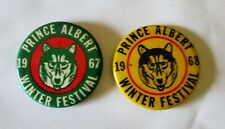 VINTAGE LOT 2 PRINCE ALBERT SASKATCHEWAN WINTER FESTIVAL 1967 & 1968 PINBACK