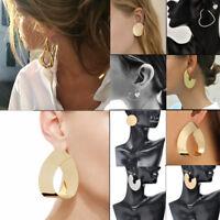Fashion Punk Large Circle Geometry Metal Earring Ear Stud Earrings Women Jewelry