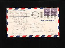 WWII Military Prexie Air Mail APO 803 Trinidad Censor 768 No Backflap Cover ß