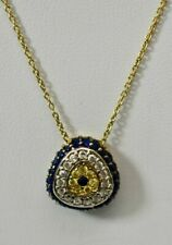 NWT EVIL EYE Rhinestone Yellow Gold Plated Rope Chain Fashion necklace On Sale