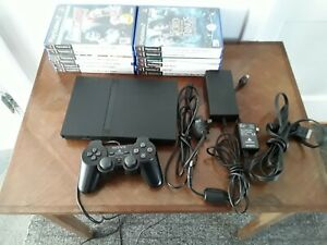 Sony Playstation 2 PS2 Slim Console With Leads, Controller, 12 Games