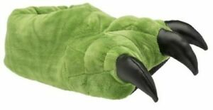British Footwear Claw Bear Mens Womens Animal Feet Faux Fur Monster 3D Slippers