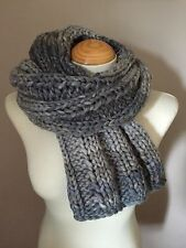 Hand Knitted scarf / Shawl / Shrug / Stole / Wrap in Grey / Wool Blend