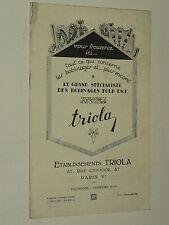 Prospectus Bobinage TSF RADIO TRIOLA Poste  An 30  brochure  prospekt old paper
