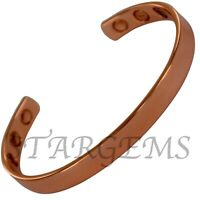 PURE COPPER BANGLE MAGNETIC BRACELET MENS WOMENS ARTHRITIS ENERGY PAIN RELIEF