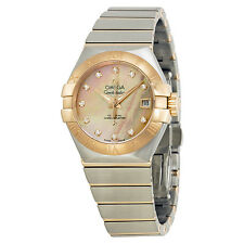 Omega Constellation Brown Mother of Pearl Dial Ladies Watch 12320272057001