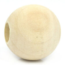 "Lots 20PCs Wood Spacer Beads Round Ball Natural 25mm Dia.(1"") Jewelry Making"