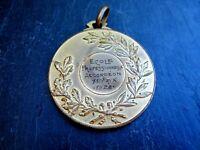alte Medaille Ecole Professionnelle Accordeon 1 er Prix 1928 Musik Sammlerstück