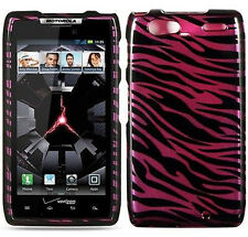 For Motorola DROID RAZR MAXX HARD Protector Case Snap On Phone Cover Plum Zebra