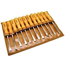 12pc Wood Carving Chisel Set in Storage Pouch / Woodworking / Carpentry TE542