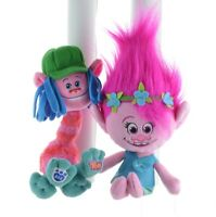 DreamWorks Trolls Poppy Stuffed Plush Sweet Toy Pink Princess Doll and Cooper