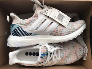 ADIDAS ULTRA BOOST F34079 Crystal White Glow Green Running Shoes Women's US 7