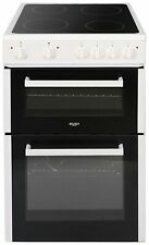 Bush B60TCWX 60cm Twin Cavity Easy Clean Ceramic Hob Electric Cooker - White