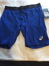 Mens Asics Compression Shorts Size XL Color Blue XT3371 New With Tags