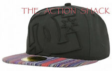 E5 - DC Shoes Coverage II Fitted Hat / Cap * NWT 7 1/2 Black / Multi - #24678