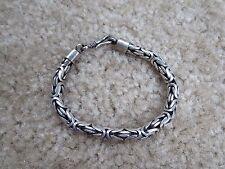 Sterling Silver Wheat Bracelet 6mm 32.1 grams