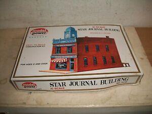 MODEL POWER N scale Star Journal Building MODEL KIT #1510 for trains