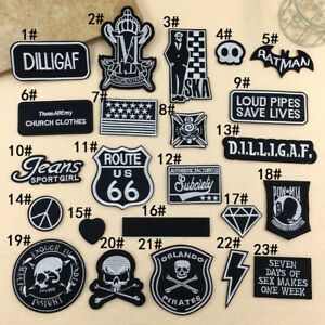 Embroidered Sew Iron On Patches Badge Bag Dress Fabric Applique Craft Emblems