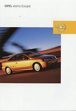 Prospekt 2002 Opel Astra Coupé Coupe 8 02 brochure Broschüre Auto Pkw broschyr