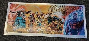 X-Men #1 20th Anniversary FOIL Variant Art Poster Print Not Mondo 36 x 16