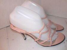 Stuart Weitzman Light Pink Pump Heels Slide on Open Toe Womens Size 9 M Spain