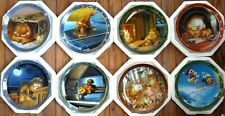 Garfields Dear Diary 8 plate collection by the Danbury Mint Flawless & Complete.