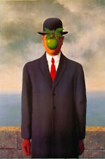 Large Framed Print - The Son of Man by René Magritte (Picture Surrealism Dali)