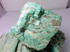 Amazonite ,ive pounds, Rough  with smoky quartz bands, Brazil, lapidary