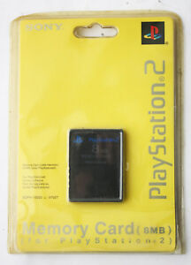 OFFICIAL SONY PLAYSTATION 2 PS2 MEMORY CARD 8MB GENUINE NEW SEALED MOSC !
