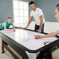 """72"""" Air Powered Hockey Table Game Room Indoor Sport With Table Tennis Cover Kids"""