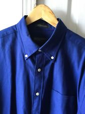 Lyle & Scott Scotland Short Sleeve Button Front Combed Cotton Large Casual Shirt