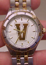 Vanderbilt Commodores Watch Game Time Mens General Managers Wristwatch Gold Logo