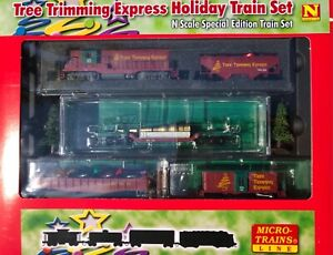 Micro-Trains N scale Christmas Tree Trimming Holiday Train Set
