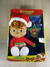 Vtg Fisher Price Alvin the Chipmunks Singing Holiday Christmas Plush Doll in BOX